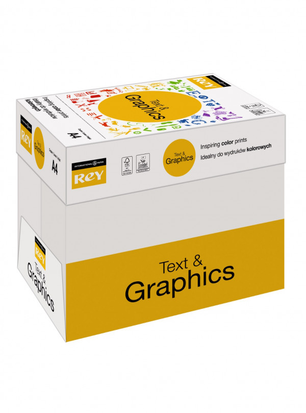 Rey Text & Graphics Box A4 80gsm