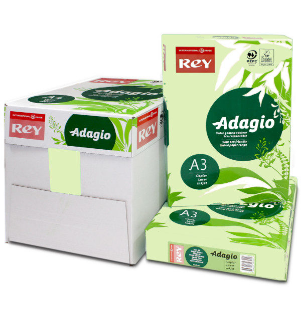 Adagio A3 Bright Green Box Ream