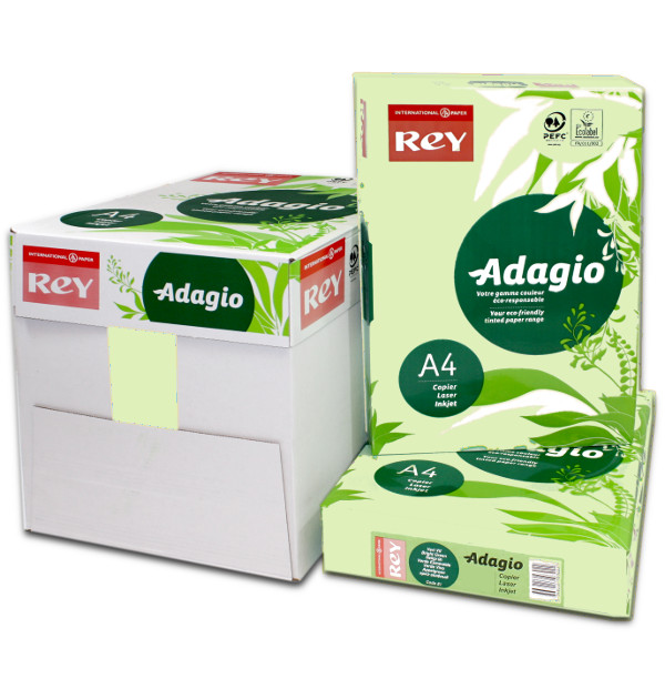 Adagio A4 Bright Green Box Ream