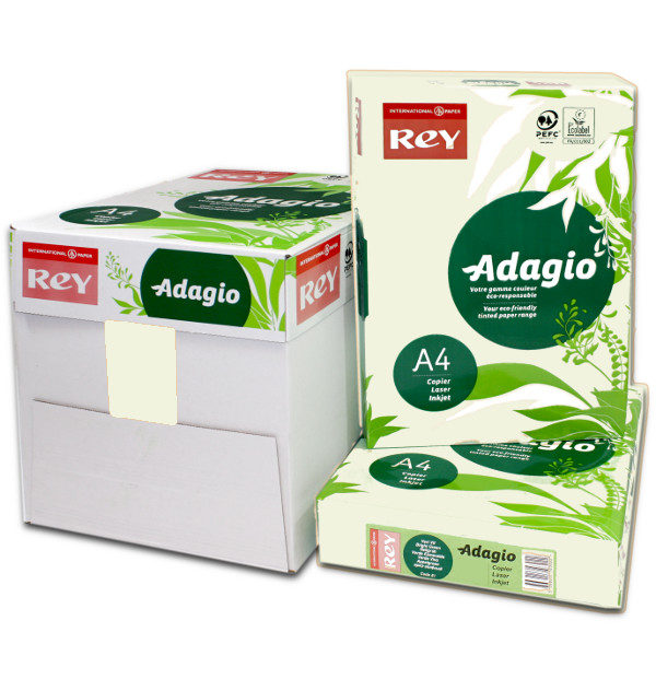 Adagio A4 Pistachio Coloured Paper. Box Ream