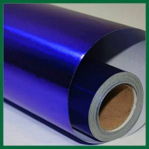 Blue Metallic Wrapping Paper
