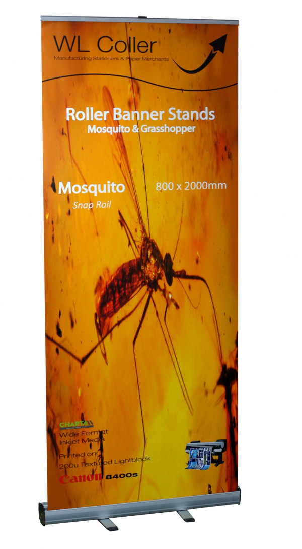 Mosquito & Grasshopper Roller Banner Stands