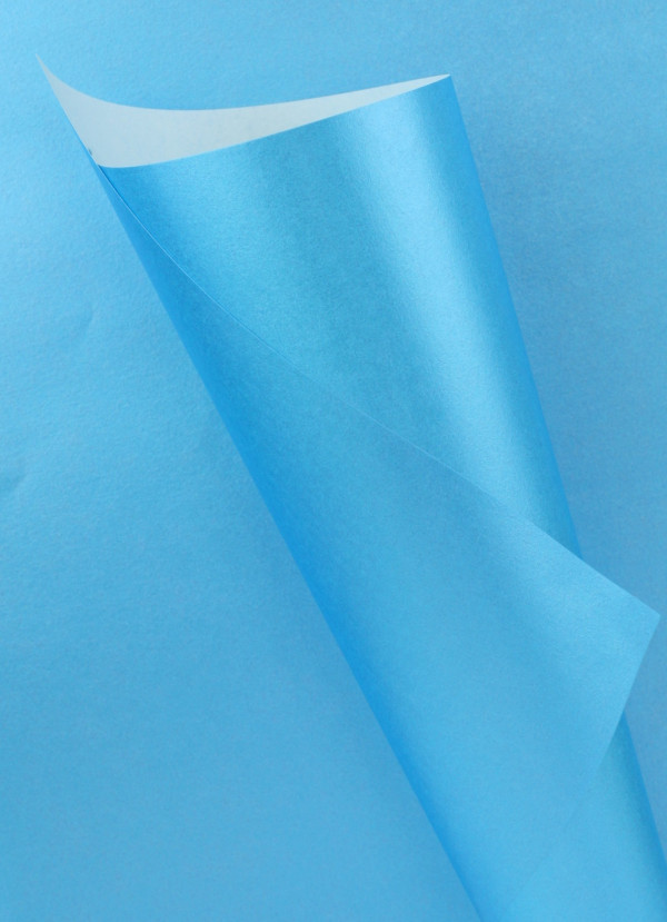 Pearlescent Blue Paper 90gsm