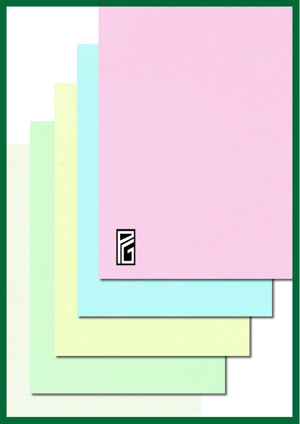 PG Thick Coloured Card Pastel Selection