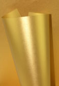 Pearlescent 125gsm Sirio Aurum Gold Paper Rolled