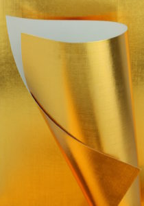 Gold Embossed 240gsm Card Cone