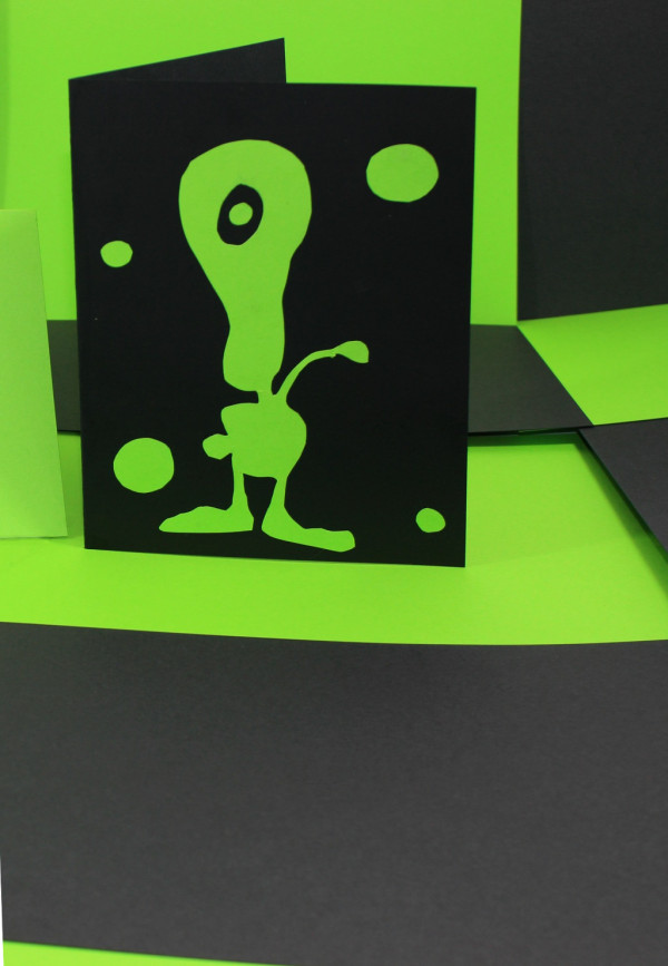 Black & Green Mixed Card