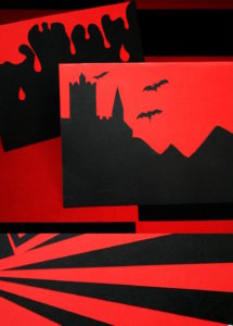 Black & Red Mixed Card