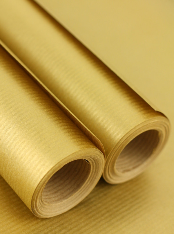 Gold Craft Wrapping Paper