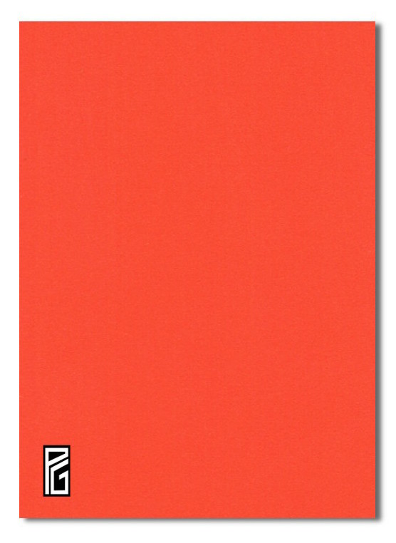 PG Orange Coloured Card