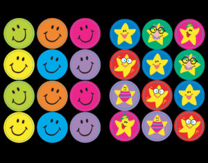 T-46134 T-46157 Smiles and Stars Stickers