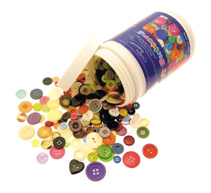 2510-0 Tub of Craft Buttons