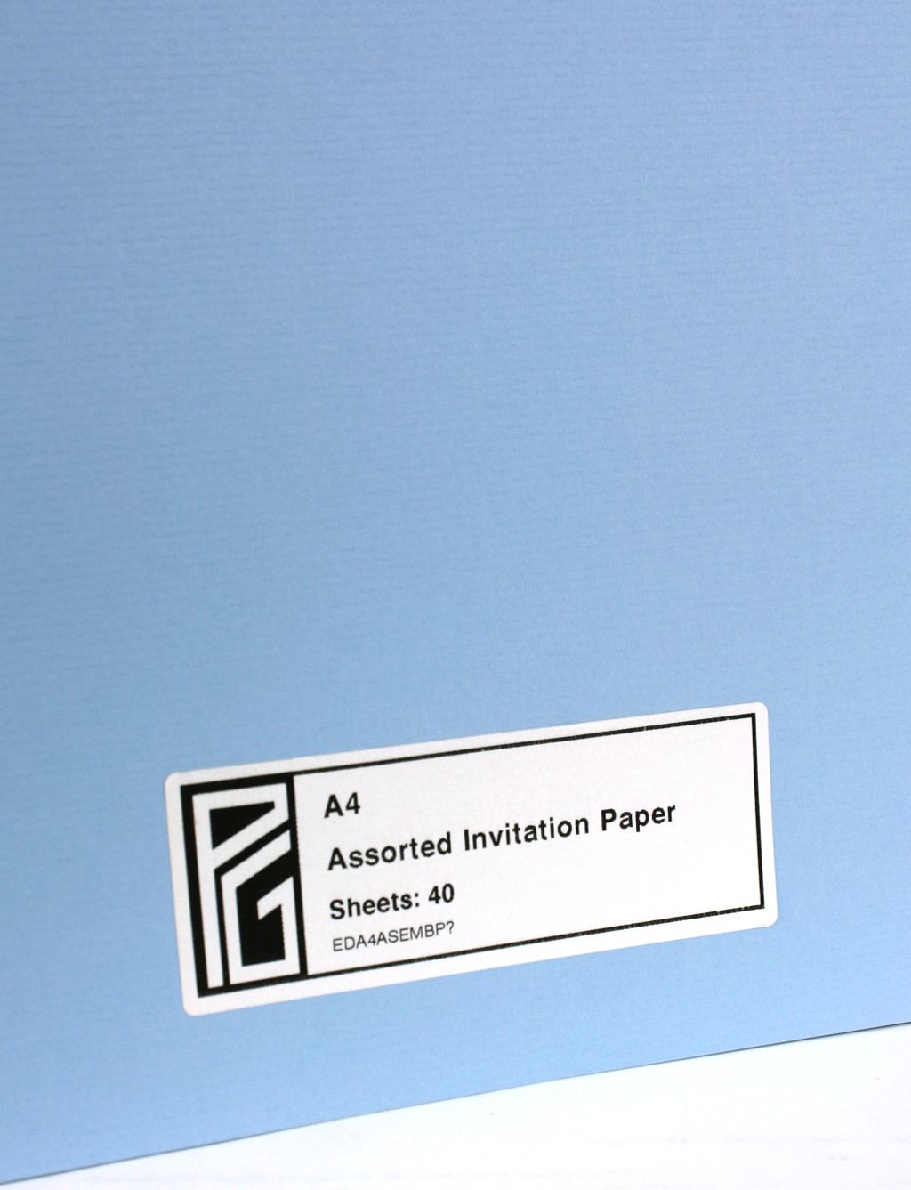Invitation paper Blue
