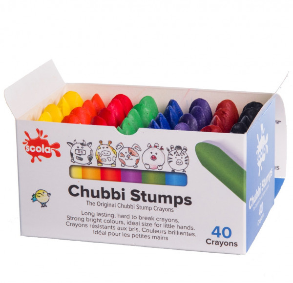 Chubbi Stumps Wax Crayons