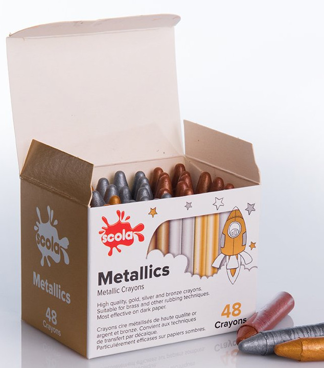 SCO-XVP163M Metallic Wax Crayons Pack