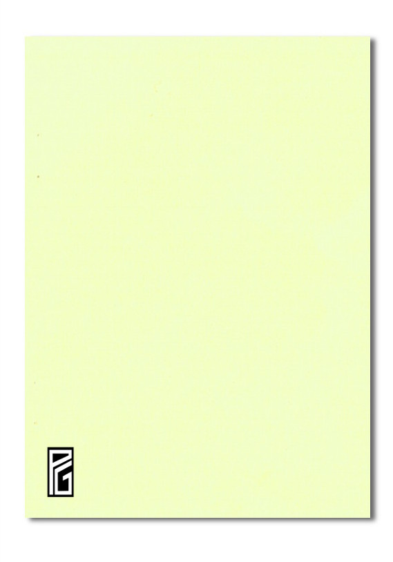 Pastel Yellow Coloured Card